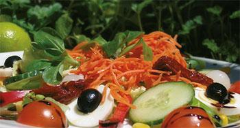 Ein frischer Pico-Salat